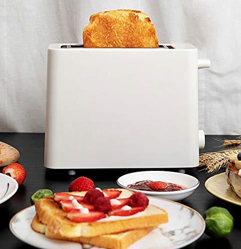 Mini Toaster Brotbackautomat Mit Abnehmbarer Grillmöglichkeit, Compact Toastbrot, Extra Wide Slot Und Herausnehmbare Krümelschublade,Weiß