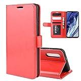 Dmtrab Phone Case pour Boîtier Portefeuille Xiaomi Mi 9 Pro/Mi 9 Pro 5G, R64 Texture Simple Fold,...