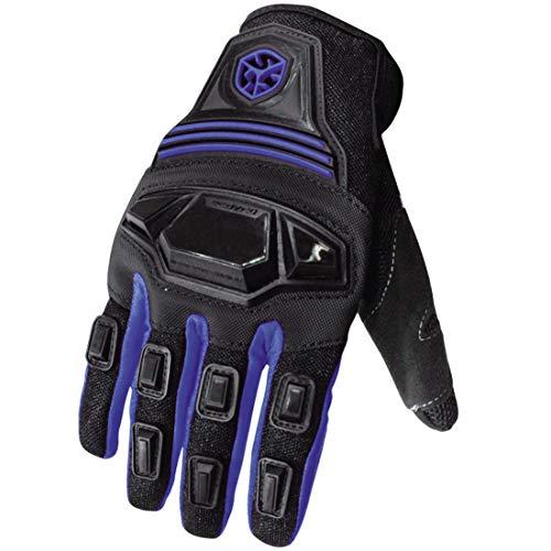YABAISHI Motorhandschoenen Zomer Ademende Sport Outdoor Racing Handschoenen Rijden Off-road Handschoenen voor Motorfiets Fietsen Racen (Kleur : Blauw)