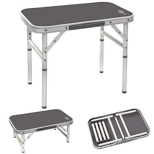 Bo-Camp | Mesa de camping con patas extraíbles de alumino, 34x 56cm