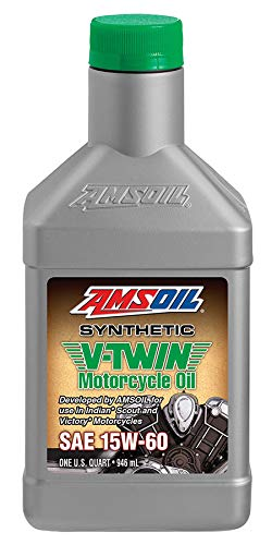Amsoil Aceite Motor 15W60 Synthetic V-Twin Motorcycle Oil For Indian 1Q (946 ml)