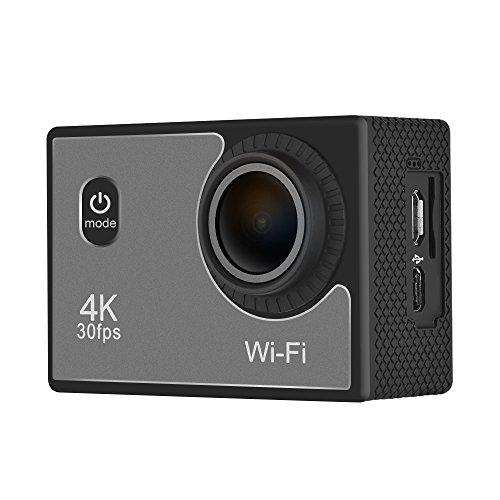Zwbfu Cámara de la acción de los Deportes de 4K 16MP WiFi Ultra HD Prenda Impermeable 98ft 2inch LCD 140 ° videocámara granangular de DV