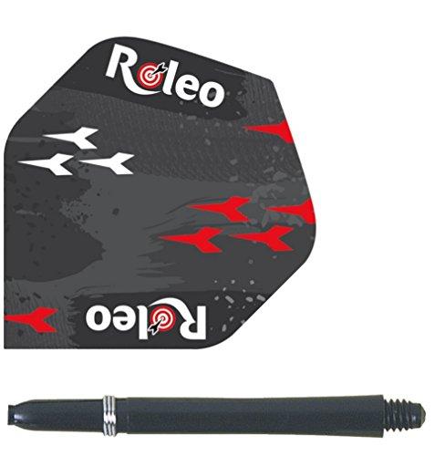 roleo 10 Sets Dartfly Flights 100my + 10 Sets Dartshaft 48 mm Sparpaket