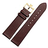 18mm 20mm Genuine Leather Watch Band Strap Buckle for Vacheron Constantin Watch (20mm, Brown(Gold Buckle)) -  Richie strap