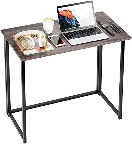 Homfa Schreibtisch Klapptisch Computertisch faltbar Arbeitstisch Bürotisch Holz stabil für Wohnzimmer, Büro, Arbeitszimmer, Gaming im Industrie-Design 89x45x74cm
