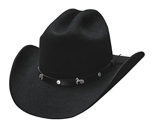 Montecarlo Bullhide Child Hats - PASO BOYS - Western Kids Cowboy Wool Felt Hat (Small)