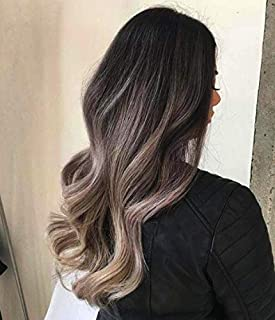 Full Shine Clip In Real Hair Extensions Human Hair Clip Ins 16 Inch Color 1B/18 Black Fading To Ash Blonde Balayage Clip Hair Extensions 5 Pcs 100 Gram Thick Hair Clip In Full Head Hair Extensions