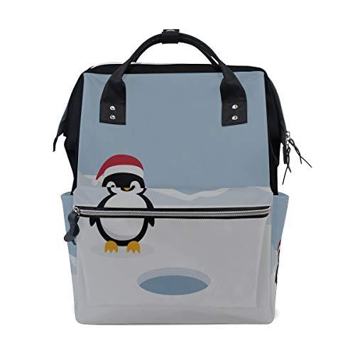 Pinguino invernale freddo pinguino Borse pannolino grande capacità Zaino mummia multi funzioni pannolino infermieristico borsa tote borsa per bambini cura del bambino viaggio giornaliero donne
