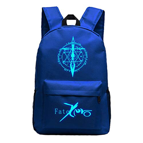 WANHONGYUE Luminoso Fate Zero Anime Backpack Casual Daypack Mochila Infantil Bolsa de Viaje Niña Niño Azul /1