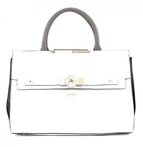 Guess, Damen Handtaschen, Henkeltaschen, Umhängetaschen, Bowling-Bags, Weiss, 34 x 23 x 13 cm (B x H x T)
