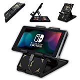 Switch Stand with 7 Cards Holder for Travel Carrying - Zelda Sheikah Slate Black