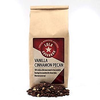 Lola Savannah Vanilla Cinnamon Pecan Whole Bean Coffee - Classic Aromatic and Warm Flavorful Gourmet Coffee Blend Caffeinated 2lb Bag