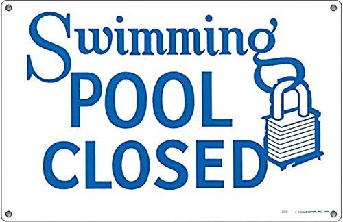 Poolmaster 41384 Rules for Public Spa Schild für kommerzielle Pools, Oregon-konform Swimming Pool Closed (Schwimmbecken geschlossen) 18
