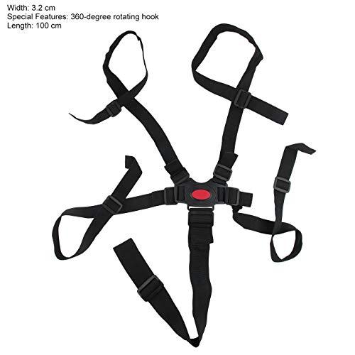 Cintura di sicurezza per bambino a 5 punti Cintura di sicurezza Cintura di sicurezza per bambini Sedia da pranzo di alta qualità (nera) JBP-X