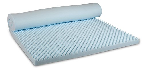 Visco Therapy Coolblue Egg Profile Mattress Topper In Cool Blue Memory Foam, 135 x 190 x 5 cm And Free Cover