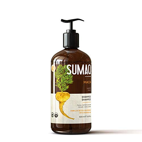 SUMAQ by LANOSTERIN PERUVIAN MACA'S SHAMPOO FOR DRY & DAMAGE HAIR Made with Maca rich in Minerals Revitalizes Moisturizes and Nourishes the Hair Fiber All types of hair MEN & WOMEN For thinning hair