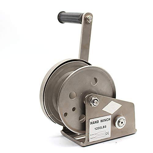 XINGXINGNS Rostfreier Stahl Handwinde mit Bremse zum für Fahrzeuge, Boot, LKW, manuelle Seilwinde 500kg 30m,20mwirerope