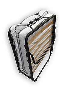 Cama plegable Alanpur®: 80 x 190 cm, cama de invitados con colchón plegable con marco de metal estable de hasta 100 kg de carga aprox.