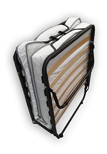 Alanpur® Klappbett: 80 x 190 cm Gästebett mit Matratze Faltbett mit Stabilen Metal-Rahmen bis ca. 100 Kg Belastung