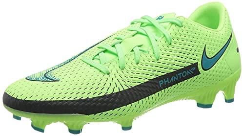Nike Unisex Phantom GT Academy MG Fussballschuh, Lime Glow/Aquamarine, 43 EU