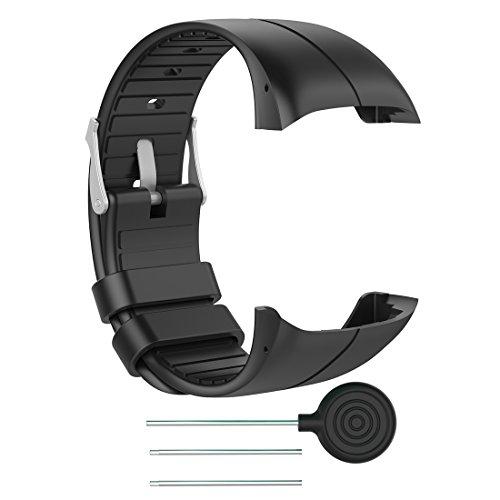 Lokeke - Cinturino di ricambio per orologio GPS Polar M400, in silicone, per Polar M400 GPS Watch e Polar M430, unisex, per adulti, GPS, colore: Nero