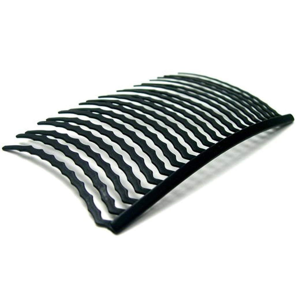 厚さ簡単な悪用リトルムーン インナーヘアアクセ コーム20本櫛(スーパーマット) ブラック