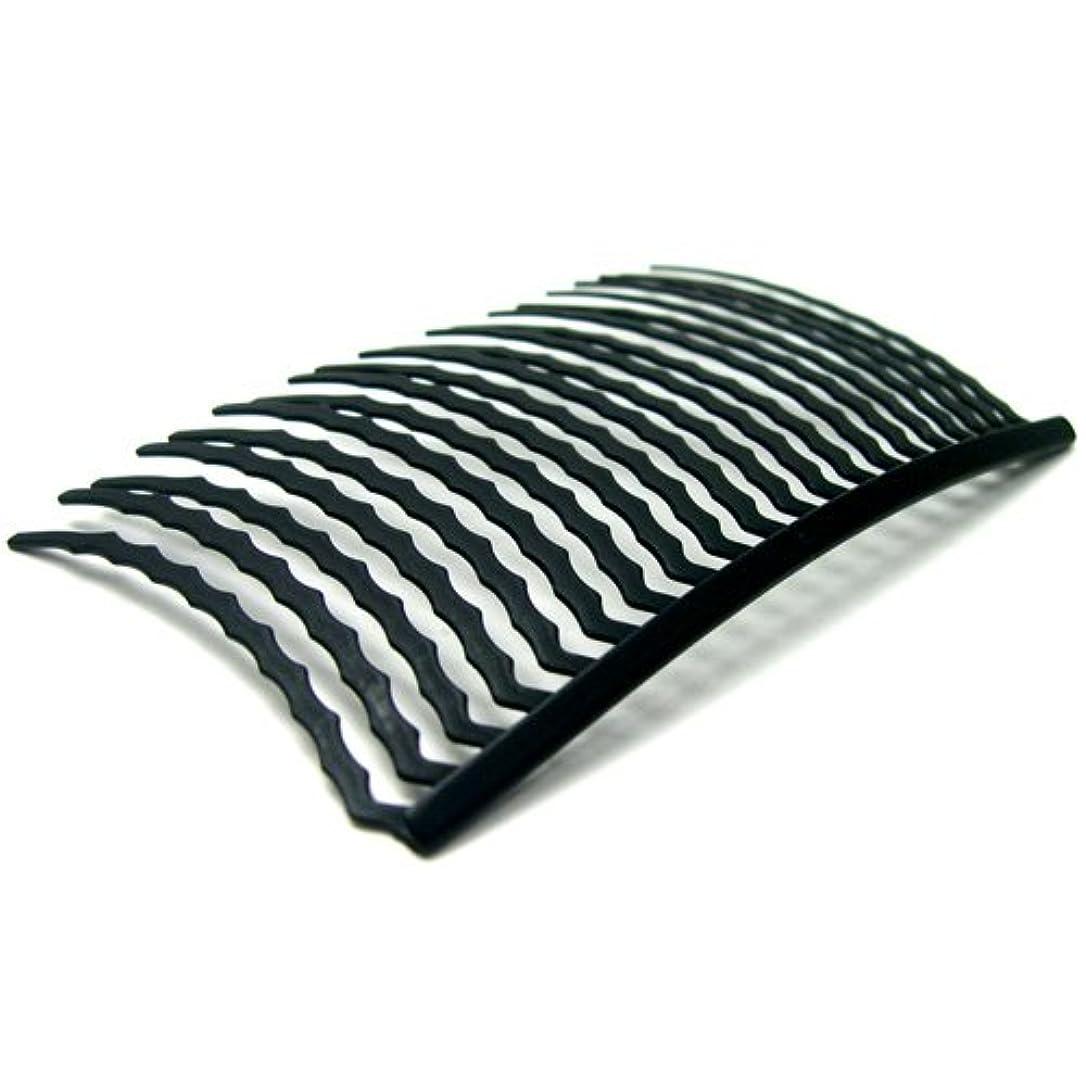 リトルムーン インナーヘアアクセ コーム20本櫛(スーパーマット) ブラック