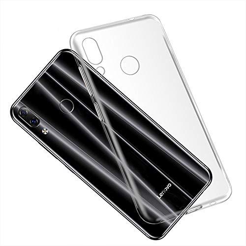 Capa para Lenovo Z5, capa traseira de TPU macia resistente a arranhões à prova de choque, gel de silicone, borracha anti-impressões digitais, capa protetora de corpo inteiro para Lenovo Z5 (transparente)