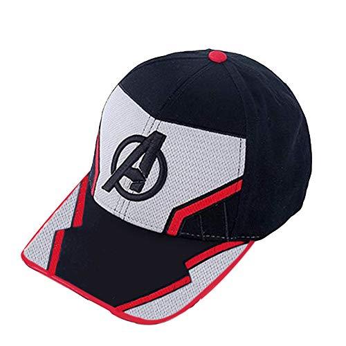 Wellgift Endgame Kappe Hut Quantum Mütze Cosplay Superheld Logo Stickerei Baseball Hüte Erwachsene & Jugendliche Outdoor Ballcap Halloween Kostüm Kleidung zubehör