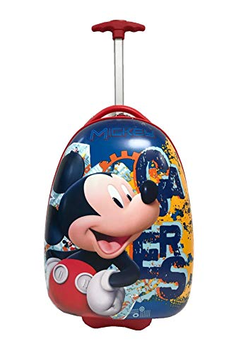 Children Kids Holiday Travel Character Suitcase Luggage Trolley Bags 16' Micky Mouse RED