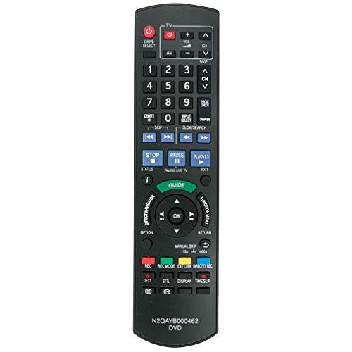 VINABTY N2QAYB000462 N2QAYB000466 Fernbedienung für Panasonic DVD Recorder ersetzt DMR-EX773EBK, DMR-EX83EB-K DMR-EX72S DMR-EX72SEG DMR-EX72SEGK DMR-EX72SEGS DMR-EX769EB DMR-EX769EF