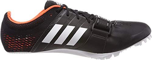 adidas Unisex-Erwachsene Adizero Accelerator Leichtathletikschuhe, Schwarz (Negbas/Ftwbla/Naranj 000), 40 2/3 EU