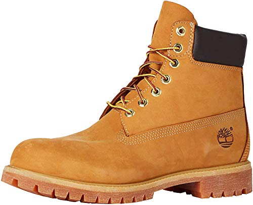 Timberland Men's 6 inch Premium Waterproof Boot Fashion, Wheat Nubuck, 9.5