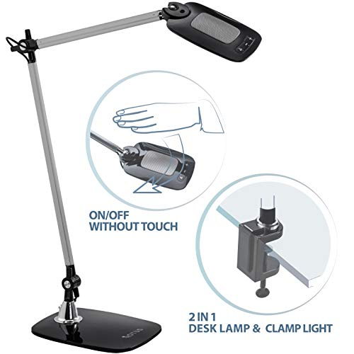 OTUS Architect Desk Lamp Clamp - Motion Activated Tall Task Light...