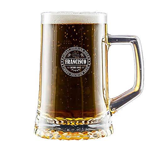 Regalo Personalizado: Jarra de Cerveza grabada con un Sello de autenticidad con su Nombre y año de...