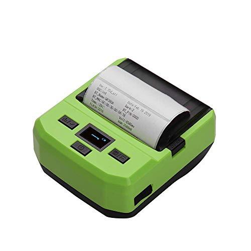 ALIZJJ Imprimante d'étiquettes Étiquette Imprimante thermique directe, portable sans fil BT 80mm Imprimante thermique de codes à barres Grande for l'étiquetage, de dépôt, de diffusion, et plus Barcode