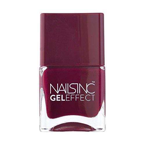 Nails Inc Esmalte de Uñas Gel Efecto Modelo: Kensington High Street Color: esmalte de uñas 14ml para las uñas como el salón de uñas - sin luz UV aplicables: zarzamora contenido/fucsia.