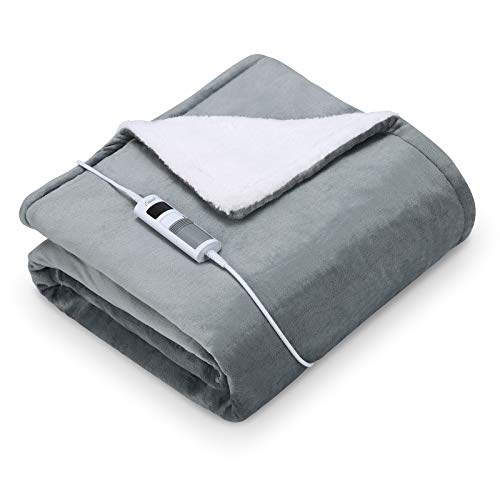 Elektrische Wärmedecke Heizdecke Oversized150 x 200cm Waschbar Heizdecken fürs Bett mit Abschaltautomatik überhitzungsschutz