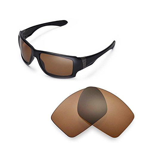 Walleva Ersatzgläser für Oakley Big Taco Sonnenbrille - Mehrfache Optionen (Braun - polarisiert)
