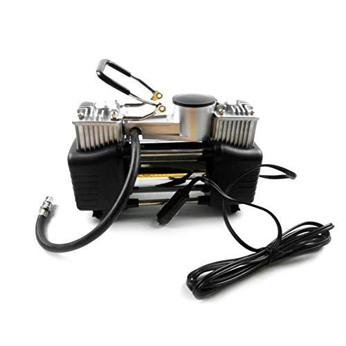 LWQ Auto-Reifen-Inflator, Spannung 12V Hochdruck Doppel-Zylinder-Luftverdichter Metall-Gummireifen, Geeignet für 12V Auto-und Off-Road Fahrzeuge