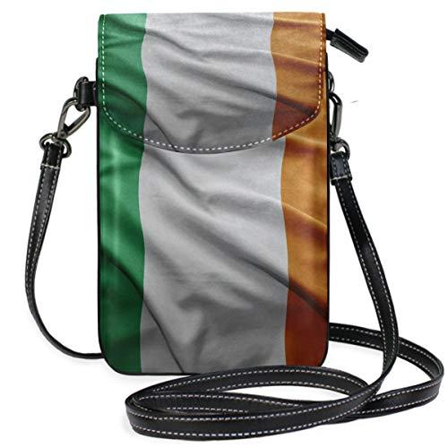 Irland-Flagge Umhängetasche Handybörse Geldbörse mit Kreditkartenfächern für Frauen