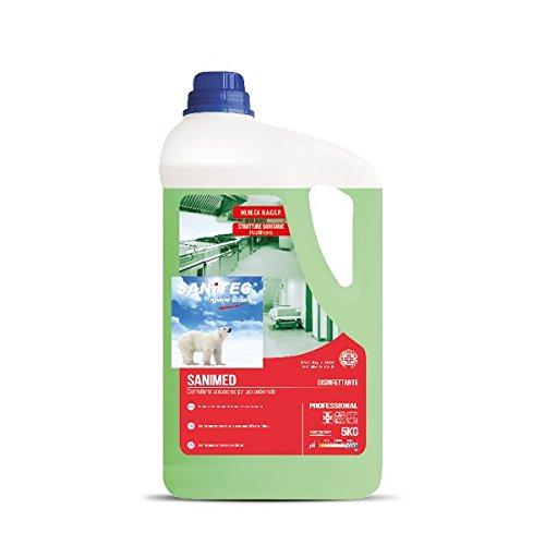 Sanitec 9758 Disinfettante Concentrato Sanimed, Verde, senza Profumo, 5 Kg