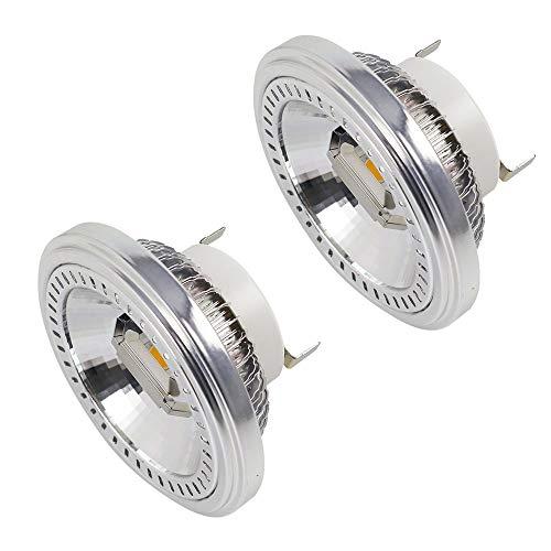 MENGS 2-er Pack G53 AR111 LED Strahler COB 15W LED Leuchtmittel Ersatz für 120W Halogenlampen Warmweiß 3000K AC 85-265V