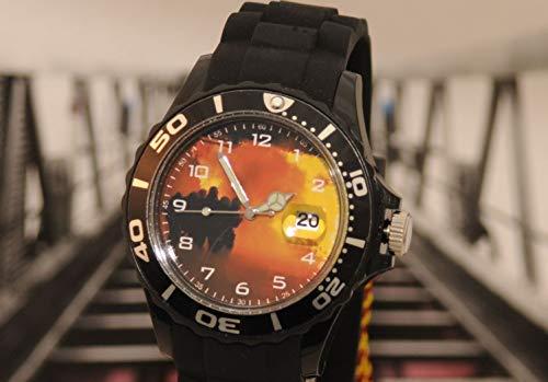 IMC Feuerwehr schwarz Armbanduhr Uhr Silikon Motiv Brand Flamme Edition OVP