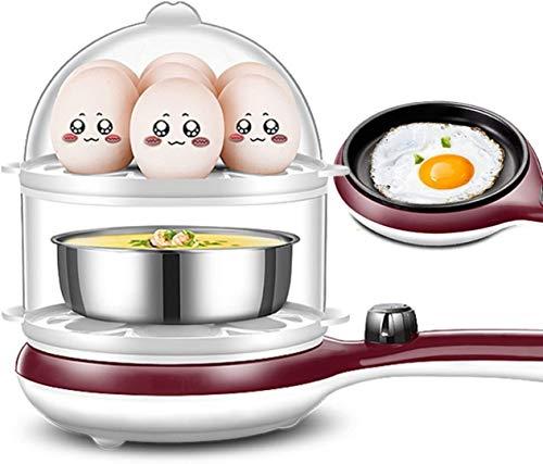 WHSS Huevo Caldera eléctrica CALILLA DE Huevo ELÉCTRICO Multi-FUNTE ELECTRÓNICO Cocina DE Huevo Cocina DE FRITANTE DE FREAÑO 14 Capacidad DE Huevo (Color : Natural)