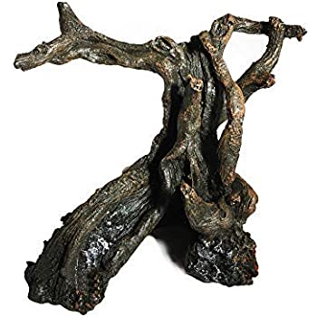爬虫類テラリウム登り木 生息地の装飾 飼育ボックス木の穴 水槽の造園 水族館の飾り