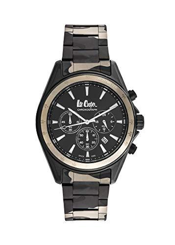 Lee Cooper Reloj Analógico para Hombre de Cuarzo con Correa en Metal LC06973.650