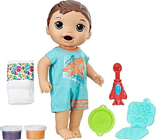 Baby Alive Super Snacks Snackin' Luke (Brunette),Brown