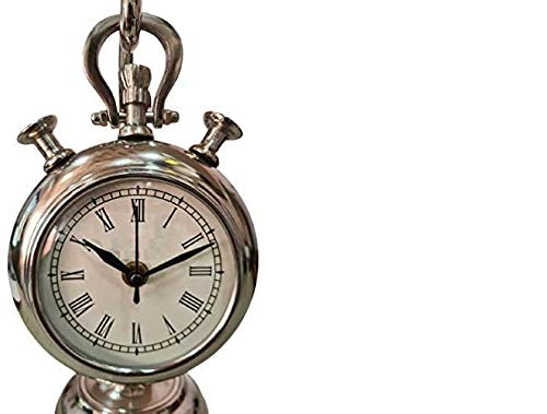 Nautical Vintage Collectible Maritime Antique Brass Desk Clock Table Watch Decor