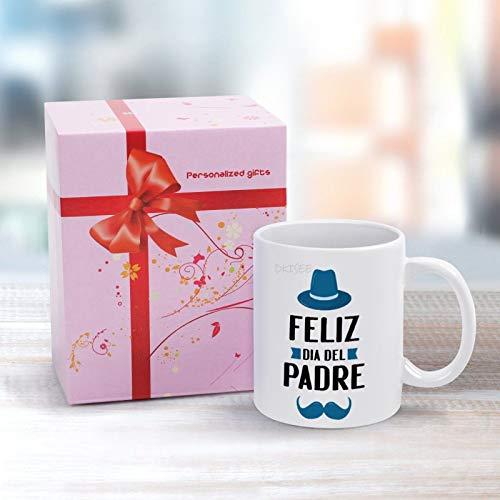 DKISEE Feliz Dia Del Padre - Taza de cerámica con texto en inglés 'Happy Father's Day' (440 ml)